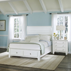 Vaughan Basset Sleigh Storage White Cottage Bed. Cottage Style Can  Transform An Uninspired Bedroom ...