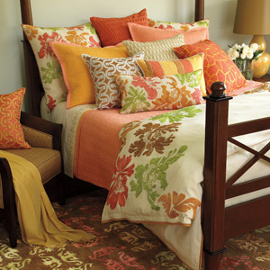 color bed pillow quilt