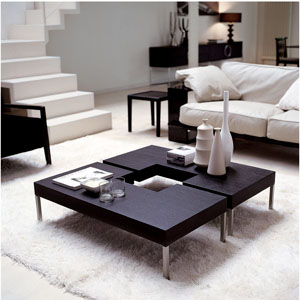 eurotrend black and white living room