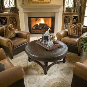 chairs intimate fireplace conversational seating