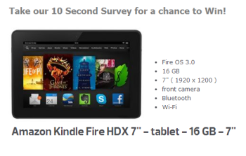 Take our 10 Second Survey for a chance to Win!